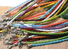 New U Pick 20/50/100pcs Mixed Colours Braided Leather Necklace Cord 480X3MM