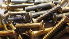 "4BA x 1 1/4"" SOLID BRASS SLOTTED COUNTERSUNK HEAD BA MACHINE SCREWS MODEL STEAM"
