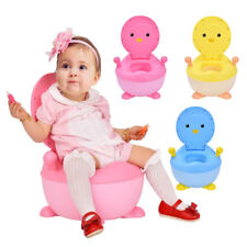 Cute Cartoon Penguin Baby Potty Toilet Training Seat Trainer Toddlers Portable