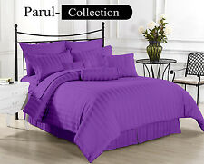 Sale Sale 600-800-1000-1200 TC Purple Stripe 100%Egyptian Cotton US Bedding size