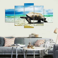 Modern Sea Turtles On Beach Modern Painting Poster Canvas Wall Art Home Decor