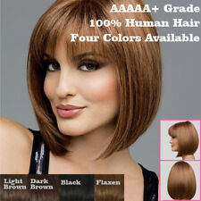 Women Short Synthetic Bob Straight Party Cosplay Black Blonde Brown Full Wig