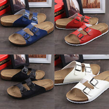 New Women's Straps Footbed Sandals Buckle Thong Flip Flop Platform Casual Shoes