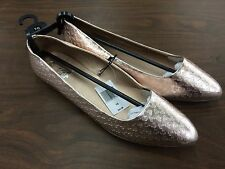 Disney Parks Flat Gold Ballet Style Shoes Sizes 10 and 7 NWT