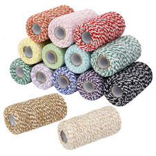 Roll 100m Cotton Bakers Twine Cord Rope Crochet Crafts Wrapping Thread 14 Colors