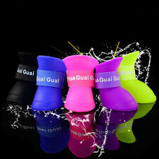 4Pcs Dogs Cats Rain Protective Boots Waterproof Puppy Pet Shoes Boots Anti-Slip