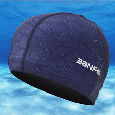 Elastic Silicone Swim Cap Swimming Hair Protection Hat Bathing Hat Ears