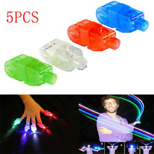 New 5PCS LED Finger Light Glow Light UP Beam Party Fillers Concert Ring Flashing