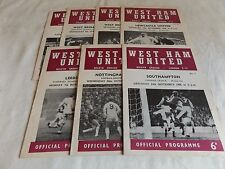 WEST HAM UNITED 1966/1967  HOME PROGRAMMES