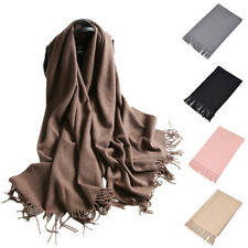 Womens Wool Blend Fashion Long Warm Scarves Soft Wrap Scarf Tassels Winter Shawl
