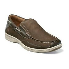 Mens Florsheim Lakeside Slip On Boat Shoe Brown Leather Suede loafer 13158-200