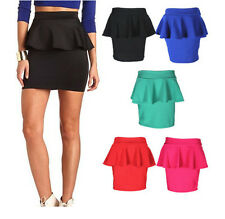 Women Sexy Mini Slim Skirt  Seamless Stretch Tight Short Fitted Candy Dress