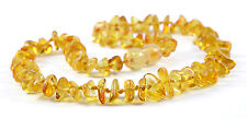 Genuine Baltic Amber Teething Necklace - Lemon Chips Beads - Baby to Mom Size