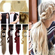 Pro Hair Extension Wrap Around Ponytail Clip In Hair Extensions Brown Blonde T89