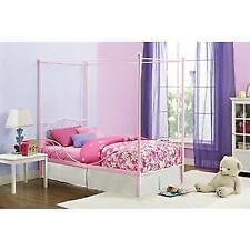 DHP Pink Canopy Twin Metal Bed New