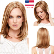 US Women Blonde Short Long Wavy Curly Synthetic Full Wig Halloween Party Wig Cap