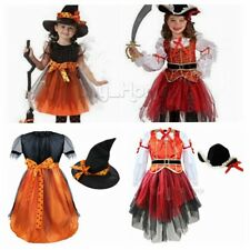 Halloween Girl Witch Pirate Outfits Fancy Dress Child Cosplay Costumes Set Party