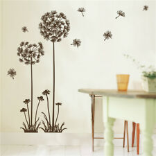 Removable Flowers Wall Sticker Decal Vinyl Wall Art Dandelion Mural Home Decors