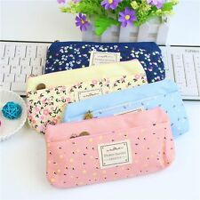 School Pencil Bag Pencil Pouch Double Zipper Pure and Fresh Cosmetic Bags Office