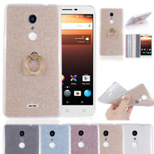 360 Rotated Metal Finger Ring Glitter TPU Case Cover For Alcatel One Touch A3 XL