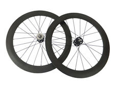 Factory Price Track Fixed Gear 50+60mm Tubular Carbon Wheels Road Bike Wheelset