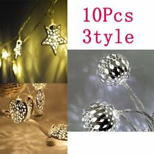 Star/Fairy/Moroccan Ball 10 Warm White LED Bedroom Christmas String Lights Home