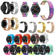 Band Elegantly Stainless/Leather/Silicone Active Wrist Strap For Samsung Gear S3