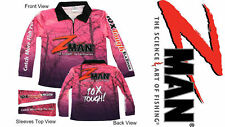 Zman Ladies PINK Tournament Fishing Shirt Z-man BRAND NEW W TAGS Z Man Womens NZ