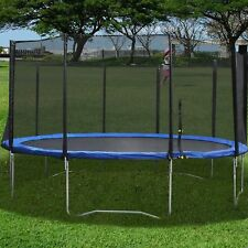 10 12 FT Trampoline w/ Safety Pad & Enclosure Net & Ladder All-in-One Combo Set