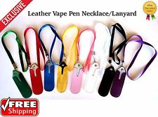 Vape-Pen Neck LANYARD W/ LEATHER POUCH for eGO/CE4 Style FREE SHIPPING!