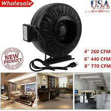 "4"" 6"" 8"" Inch Inline Fan Hydroponics Exhaust Fan Duct Cooling Fan Black New OY"