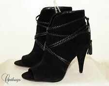 New Women's Vince Camuto Braided leather Strap Suede Bootie Size 10 MSRP $150