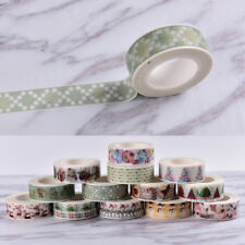 Christmas Washi Tape Paper Masking Sticky Adhesive Roll Craft Decorative New WR