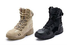 US Army Tactical Comfort Leather Combat Military Ankle Boots Mens Combat Shoes