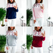 Autumn Fashion Women Lady Floral Printed Long Sleeve Blouse Casual Shirts Tops