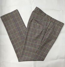 Sta Prest Tweed Check Trousers Brown Blue Slim Fit Relco 60s 80s Mod Skin 30- 40