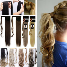 Fashionable Hair Wrap Around Long Ponytail Clip in Hair Extensions Extension t82