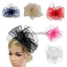 Vintage Girls Organza Mesh Net Fascinator Headband Party Headpiece