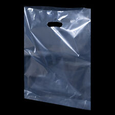 Light Apple Green Shopping Carrier Bags Retail Plastic Bags -  2 sizes available