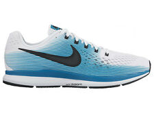 NEW MENS NIKE AIR ZOOM PEGASUS 34 RUNNING SHOES TRAINERS WHITE / BLACK / BLUSTER