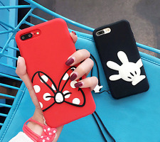 Disney Minnie Mickey Mouse Soft Back case cover Pouch for Apple iPhone 7 / Plus