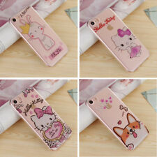 For iPhone 7 7 Plus 6 6S Bling Glitter Hello Kitty Corgi Clear Soft Case Cover
