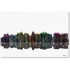 "Trademark Fine Art ""Madison Wisconsin Skyline 2"" Canvas by Marlene Watson"
