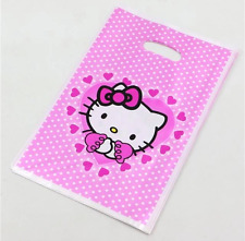 NEW Pack of 10 Hello Kitty Themed Party Loot Bag Lolly Bags