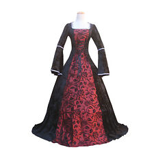 Renaissance Medieval Dark Enchantress Witch Regal Gown Top Halloween Costume
