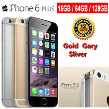 Factory Unlocked Apple iPhone 6 Plus/6/5S Gold Silver Gold 128GB 4G Smartphone O