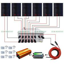 24V Off Grid Solar Panel Home System W/ 6 String Combiner Box 250W Solar Module