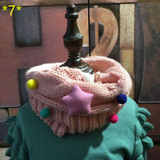New Kids Knitted Wool O-Scarves Boys Scarf Winter Girls Sweet Warm Neck Scarves