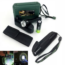 Tactical 10000Lumens XML T6 Zoomable LED Flashlight Torch Lamp Battery Charger