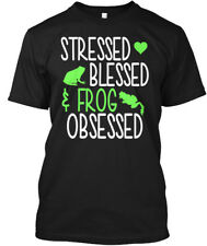 Frogs!!! - Stressed Blessed Frog Obsessed Hanes Tagless Tee T-Shirt
